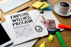 Program för anställdWellness och klara av anställdhälsa, employe Royaltyfri Fotografi