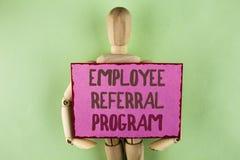 Program för remiss för anställd för handskrifttexthandstil Uppmuntrar menande strategiarbete för begreppet arbetsgivare till och  arkivfoto
