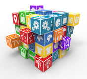 Program icons Royalty Free Stock Images