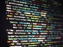 Program komputerowy koduje na ekranie zdjęcia stock