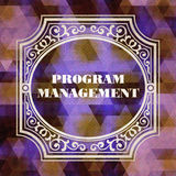 Program Management. Vintage Design Concept. Royalty Free Stock Images