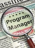 Program manager ahora de alquiler 3d Imagen de archivo libre de regalías