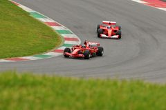 Program Mugello för provFerrari F1 clienti Arkivfoto