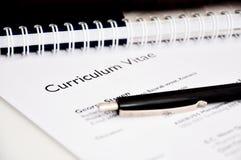 Program nauczania - vitae lub życiorys Obraz Stock