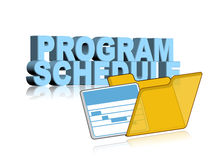 Program schedule. An illustration of program or project schedule icon Stock Images