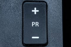 Program switch on the remote control royalty free stock photo