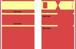 Program - vitae med rödbrun färg Royaltyfri Bild