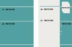 Program - vitae med turkosfärg Arkivbild
