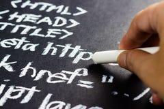 Program writing Stock Images