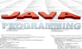 Programação de Java ilustração stock