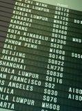 Programação de vôo Imagem de Stock Royalty Free