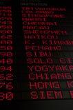 Programação de vôo Fotografia de Stock