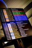 Programação de voo Fotografia de Stock
