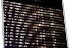 Programação do aeroporto Fotografia de Stock
