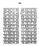 Programação do transporte Imagem de Stock Royalty Free