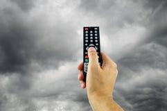 Programação má na televisão foto de stock