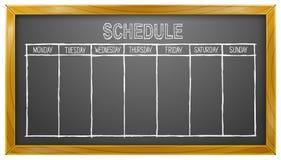 Programação, quadro-negro, dias úteis, calendário, negócio Foto de Stock