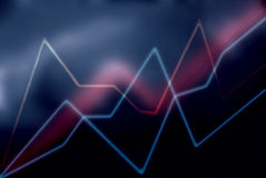 Programações de néon, linhas abstratas Fotos de Stock