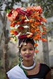 Programa cultural Chitwan 2013, Nepal de Tharu Fotos de archivo libres de regalías
