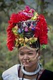 Programa cultural Chitwan 2013, Nepal de Tharu Foto de archivo libre de regalías