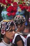 Programa cultural de Tharu, Chitwan 2013, Nepal Imagenes de archivo