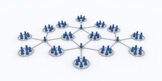 Programa da filial. Rede. Ícones azuis. Imagem de Stock Royalty Free