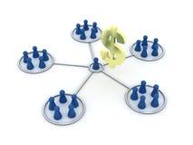 Programa da filial. Rede. Imagens de Stock