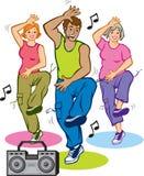 Programa de aptidão da dança Fotos de Stock Royalty Free