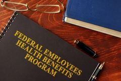 Programa de benefícios federal FEHB da saúde dos empregados imagens de stock royalty free