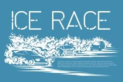 Programa de carreras del hielo ilustración del vector