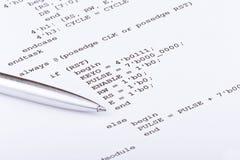 Programa de computadora imagenes de archivo