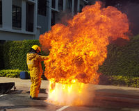Programa de entrenamiento del fuego Foto de archivo libre de regalías