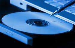 Programa de escritura CD Foto de archivo