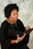 Programa de escritura del afroamericano Foto de archivo
