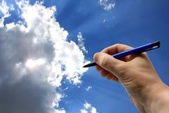Programa de escritura del cielo Fotos de archivo