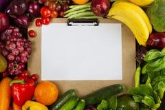 Programa de la dieta con concepto sano limpio de la comida fotos de archivo libres de regalías