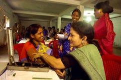 Programa de la donación de sangre en la India. Imagen de archivo libre de regalías