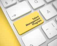 Programa de la gestión del talento - botón del teclado 3d Foto de archivo