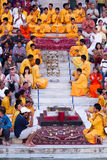 Programa de Rishikesh Bhajan imagenes de archivo