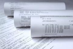 Programa de software do computador Imagens de Stock
