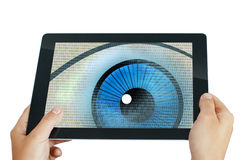 Programa del ojo del espía Foto de archivo