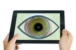 Programa del ojo del espía Fotos de archivo