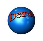 Programa demonstrativo da esfera do ícone foto de stock royalty free