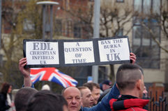 Programa demonstrativo de EDL em Blackburn imagem de stock royalty free
