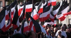Programa demonstrativo do neonazista do 03 Sept 11 em Dortmund Alemanha Fotos de Stock Royalty Free