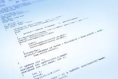 Programa informático sobre fondo azul Fotos de archivo libres de regalías