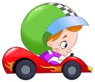 Programa piloto de coche de carreras del niño Imagen de archivo