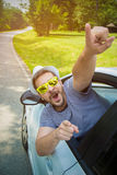 Programa piloto de coche feliz Fotografía de archivo