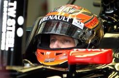 Programa piloto de Kimi Raikkonen Finlandia F1 Imagenes de archivo