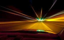 Programa piloto de la noche Foto de archivo
